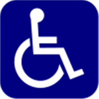 Handicap reverse blue background.svg